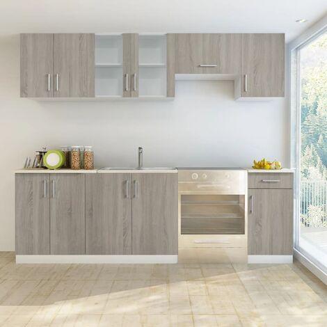 Küchenzeile 7-tlg. Eichen-Look