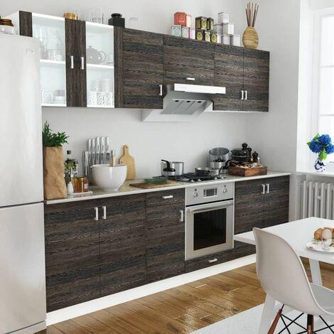 Küchenzeile 8-tlg. Wenge-Look