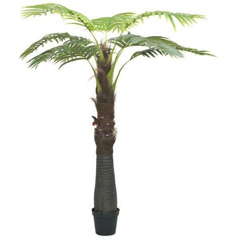Künstliche Palme mit Topf 240 cm Grün