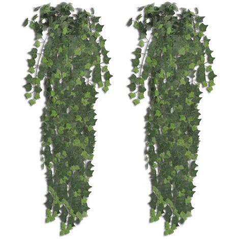 Künstlicher Efeu grün 90 cm 2 Stück