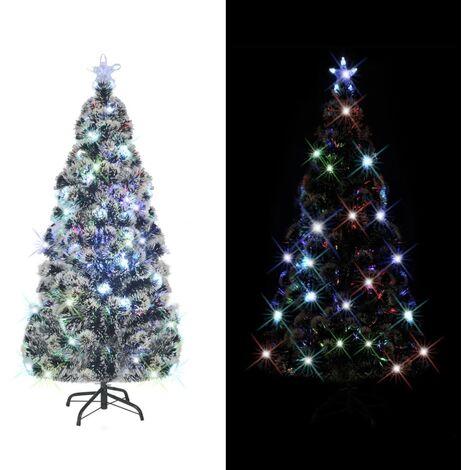 Künstlicher Geschmückter Weihnachtsbaum.Künstlicher Weihnachtsbaum Mit Ständer Led 210 Cm 280 Zweige
