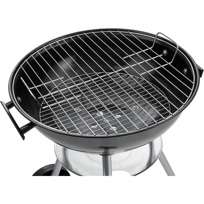 Arebos Kugelgrill 57 cm Holzkohlegrill Standgrill Rundgrill Grill BBQ