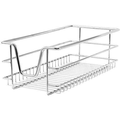 Cestelli Estraibili Per Mobili Da Cucina.Kukoo 2 Cestelli Estraibili Per Mobile Da Cucina Largo