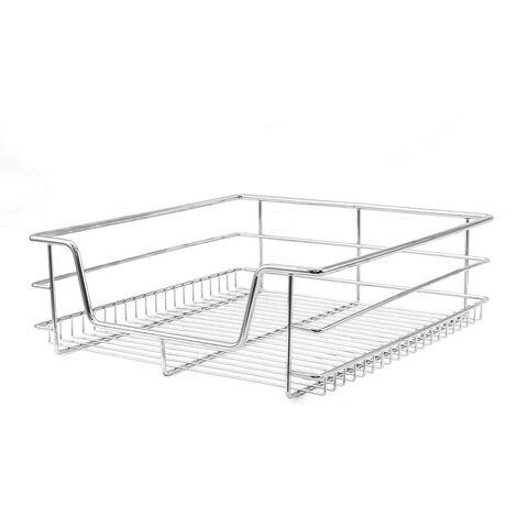 Kukoo - 3 Cestos Extraíbles para Mueble de Cocina de 50cm de Ancho con Guías Telescópicas