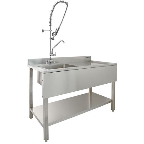"""main image of """"KuKoo Commercial Sink & Pre-Rinse Tap - Right Hand Drainer"""""""
