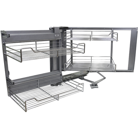 KuKoo Corner Kitchen Cupboard Pull Out Drawers - Left Hand