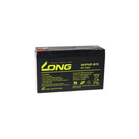 KungLong Batería de Reemplazo para Coche de Niño Vehículo Eléctrico 6V 12Ah (Reemplaza también 10Ah)