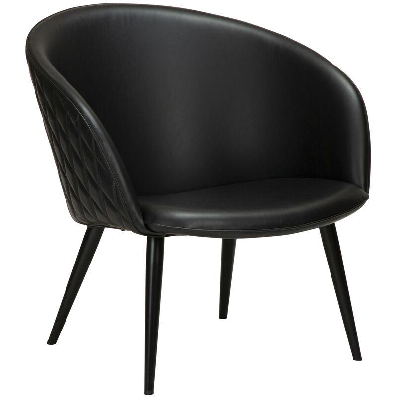 Kunstleder Sessel Danform Dual schwarz Loungesessel Clubsessel Cocktailsessel 52-700800640 - PKLINE