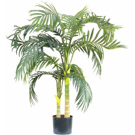 Kunstpflanze Goldfruchtpalme - Höhe ca. 120 cm, Topf-Ø 18 cm - Areca Dypsis