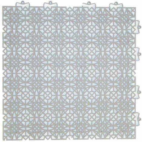 Kunststoff Fliese Bodenfliese Klicksystem Terrasse 7er Pack in  verschiedenen Farben