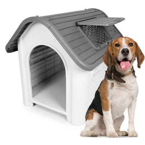 Kunststoff Hundehütte mittelgroß innen außerhalb BELLA