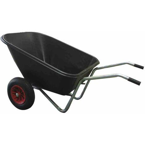 Kunststoff Muldenkarre 160l Gartenkarre Schubkarre Transportkarre Gartenwagen