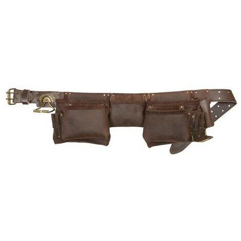 Kunys 19427 Oil Leather Construction Apron 12 Pocket