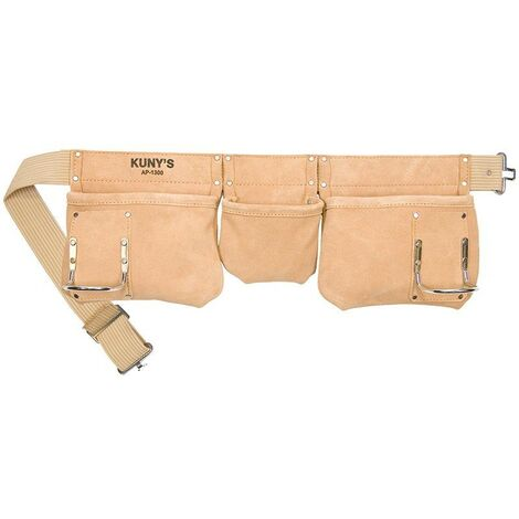 Kunys KUNAP1300 Carpenters Apron 5 Pocket Suede Leather Tool Pouch AP-1300