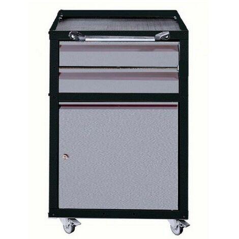 Kupper - Aparador móvil de taller de 1 puerta y 2 cajones - Color: Gris