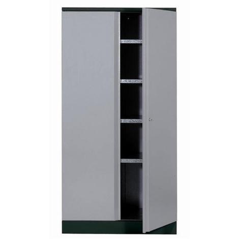 Kupper - Armoire 2 portes et 4 étagères - Gris