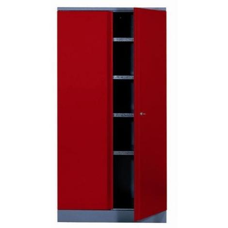Kupper - Armoire 2 portes et 4 étagères - Rouge