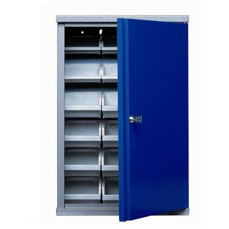 Kupper - Armoire murale 1 porte et 18 boites de rangement - Bleu marine