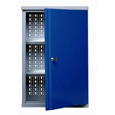 Kupper - Armoire murale 1 porte et 2 étagères - Bleu marine