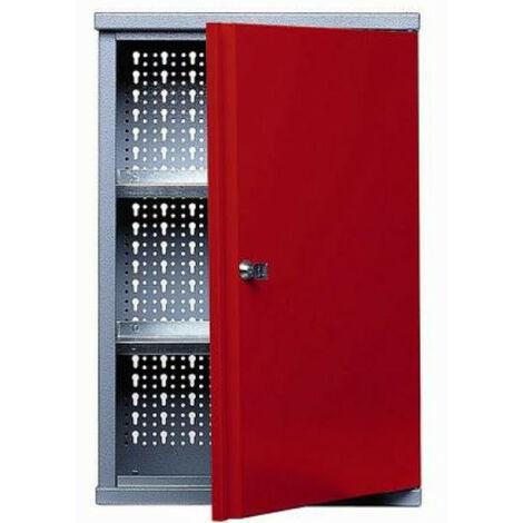 Kupper - Armoire murale L:40cm 1 porte et 2 étagères - Rouge - TNT