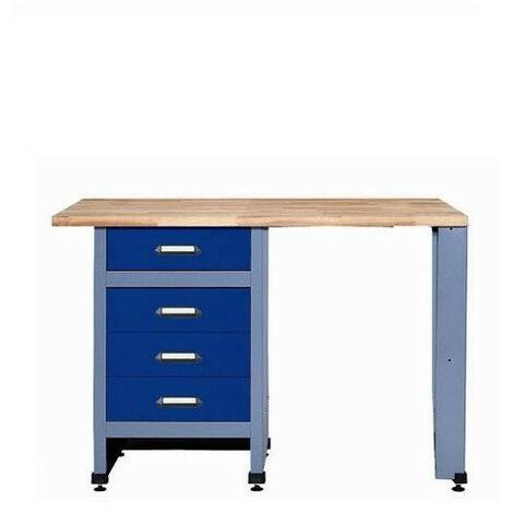 Kupper - Etabli 4 tiroirs et 1 emplacement L:1,20 m - Bleu marine 12537