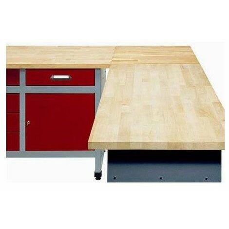 Kupper - Mesa de esquina para atar 2 bancos de trabajo