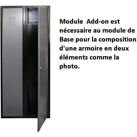 Kupper - Module ADD-ON pour composition Armoire de vestiaire - Gris 70766