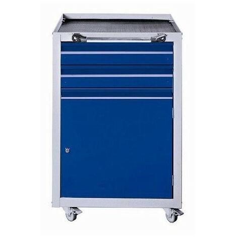 Kupper - Servante d'atelier mobile 1 porte et 2 tiroirs - Couleur : Bleu marine