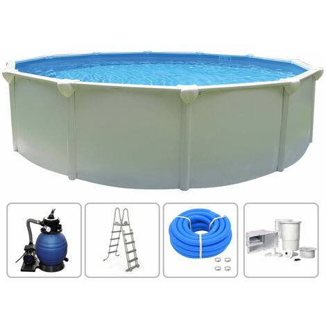 KWAD Ensemble de piscine Supreme Ronde 4,6x1,32 m