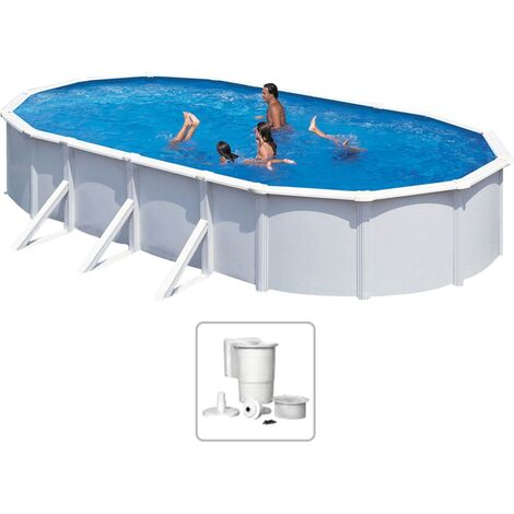 KWAD Swimming Pool Steely Deluxe Oval 7.3x3.6x1.2 m
