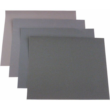 KWB 830-960 Assorted Wet & Dry Sandpaper - Paint & Car - 23 x 28cm - Pack Of 20