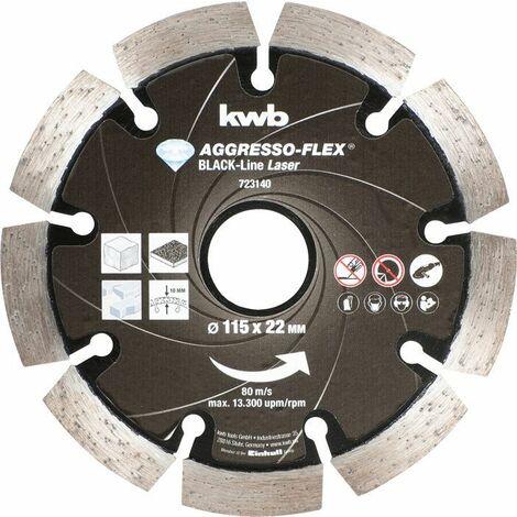 KWB AGGRESSO-FLEX® Black-Line DIAMANT Trennscheiben, ø 115 mm - 723140