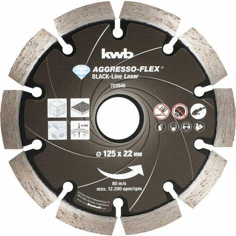 KWB AGGRESSO-FLEX® Black-Line DIAMANT Trennscheiben, ø 125 mm - 723540