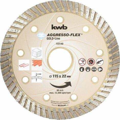 KWB AGGRESSO-FLEX® Gold-Line DIAMANT Trennscheiben, ø 115 mm - 722140