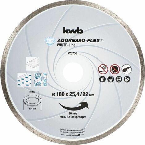 KWB AGGRESSO-FLEX® White-Line DIAMANT Trennscheiben, ø 180 mm - 725750