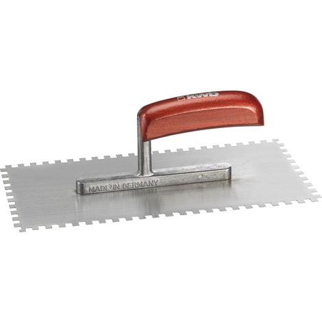 Cazzuola dentata per lisciare 280 x 130 mm denti da 10 x 10 mm Connex COX781238 resistente alla ruggine