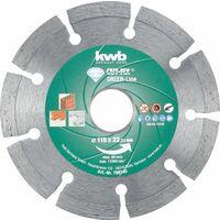KWB CUT-FIX® Disques à tronçonner DIAMANT Green-Line, ø 115 mm - 798140