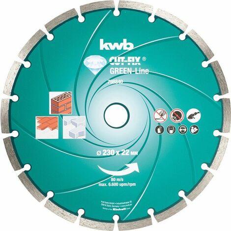 KWB CUT-FIX® Green-Line DIAMANT Trennscheiben, ø 230 mm - 798840