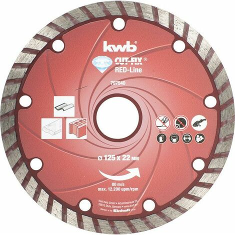 KWB CUT-FIX® Red-Line DIAMANT Trennscheiben, ø 125 mm - 797540