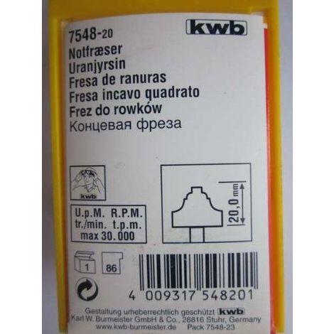 KWB-fraise hM lame de scie au carbure, 7548-20