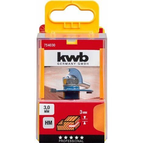 KWB Fraises circulaires à rainurer au carbure, avec queue de montage - 754030