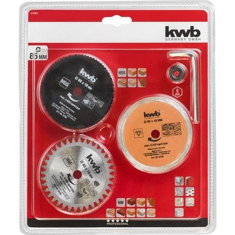 "main image of ""KWB Kit de mini hojas para sierra circular 3-PLE"""