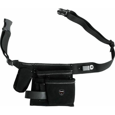 KWB Pochette ceinture porte-outils, cuir, avec ceinture en nylon - 906610