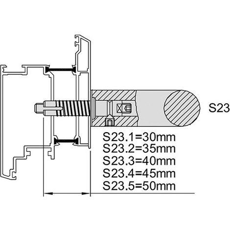 KWS 8B73 pieza accesorio S23-M8, f. Wood, Dübel 45 mm