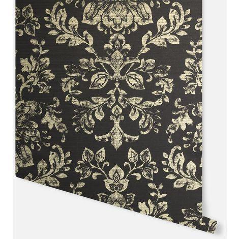 Kyasha Black & Gold Wallpaper - Arthouse - 293400