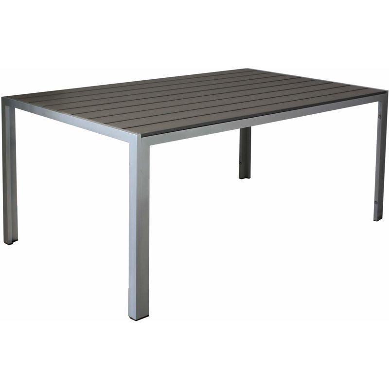 Kynast Aluminium Gartentisch 150 X 90 Cm Anthrazit Silber