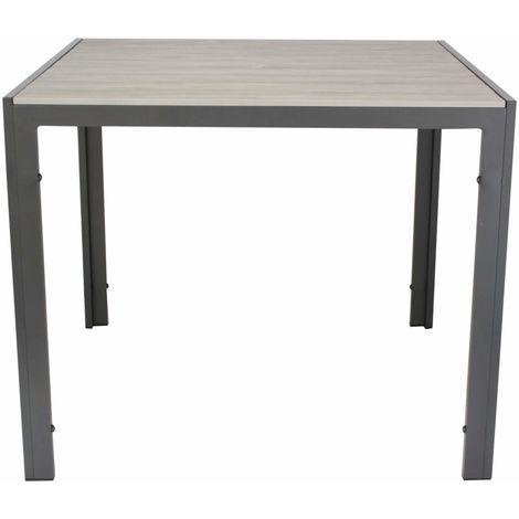 Kynast Aluminium Gartentisch 90 x 90 cm Hellgrau-anthrazit