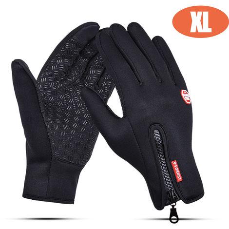 Kyncilor Glove Outdoor Winter Warm Non-slip Touching Screen Gloves For Sport Bike Riding, Size XL, Black
