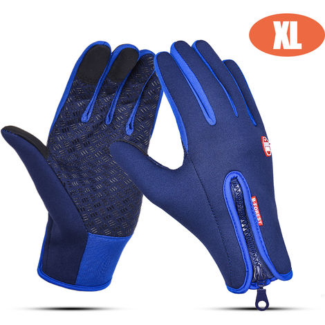 Kyncilor Glove Outdoor Winter Warm Non-slip Touching Screen Gloves For Sport Bike Riding, Size XL,Royal Blue