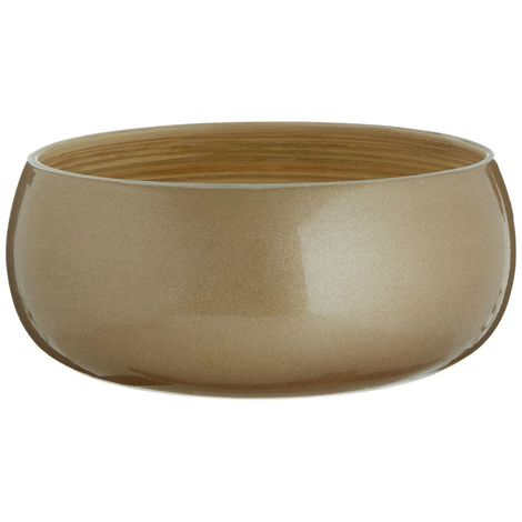 Kyoto Round Small Bowl, Spun Bamboo, Metallic Gold